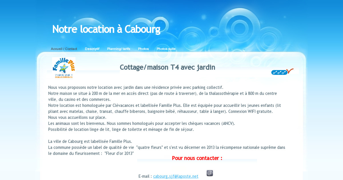 Location Cabourg Accueil Contact